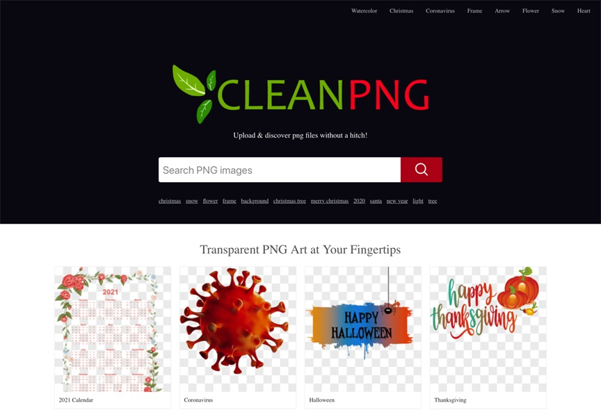 免费下载!这个网站提供超过300万张免抠素材:CleanPNG