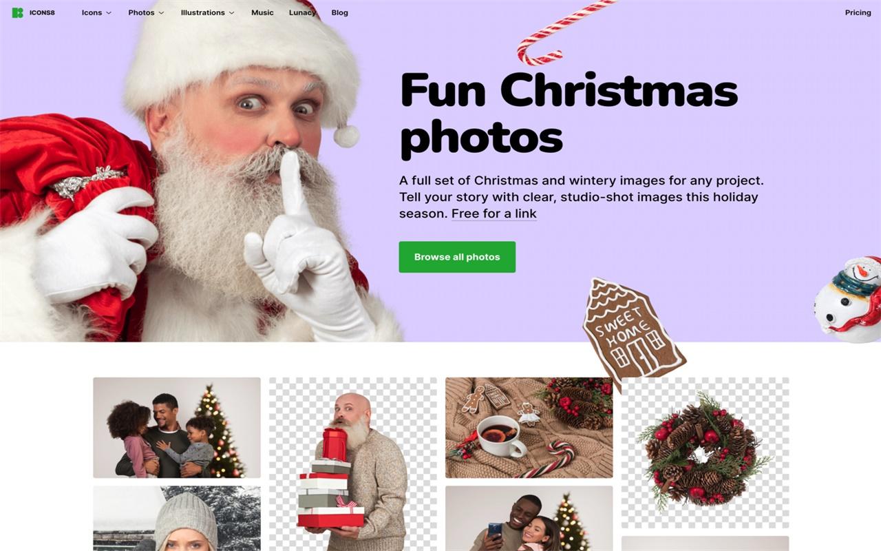 Icon8推出圣诞节免费图库,快来收!