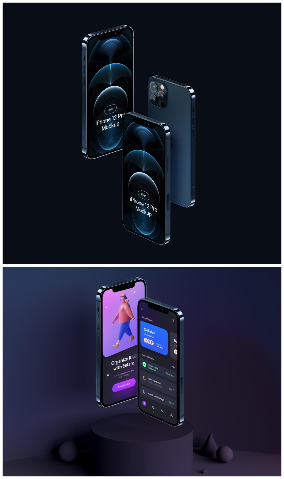 全部打包!精挑细选的 9 组 iPhone 样机,真的是炸裂高级