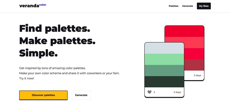 找不到配色灵感?这个网站有全世界设计师的优秀色板!