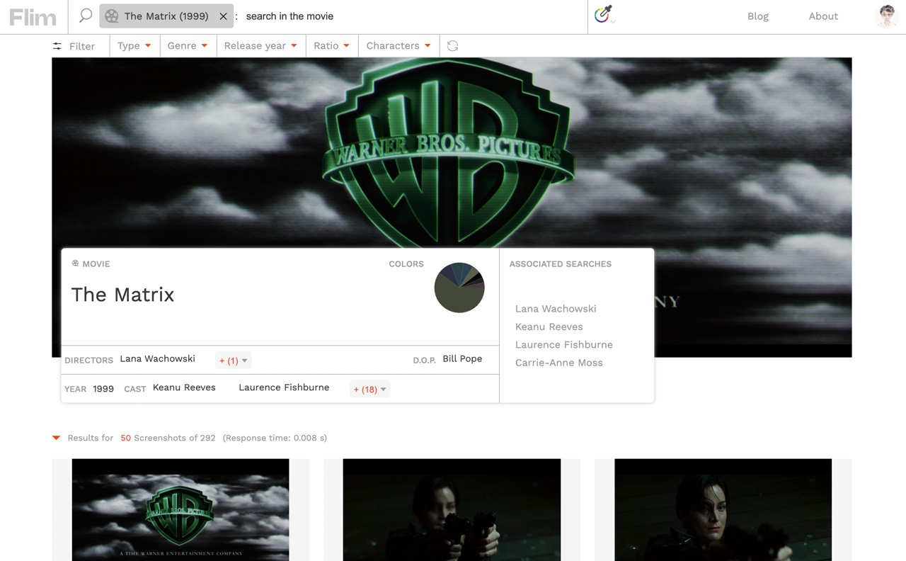 25 万张电影剧照免费下载!收下这个功能超强大的网站 Flim.ai