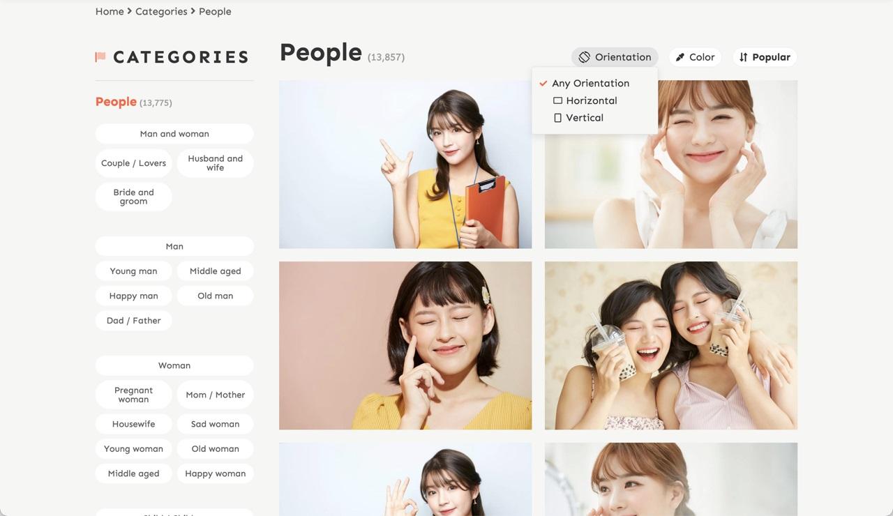 收录亚洲面孔的日本免费图库 xFrame,专业出品免费商用!