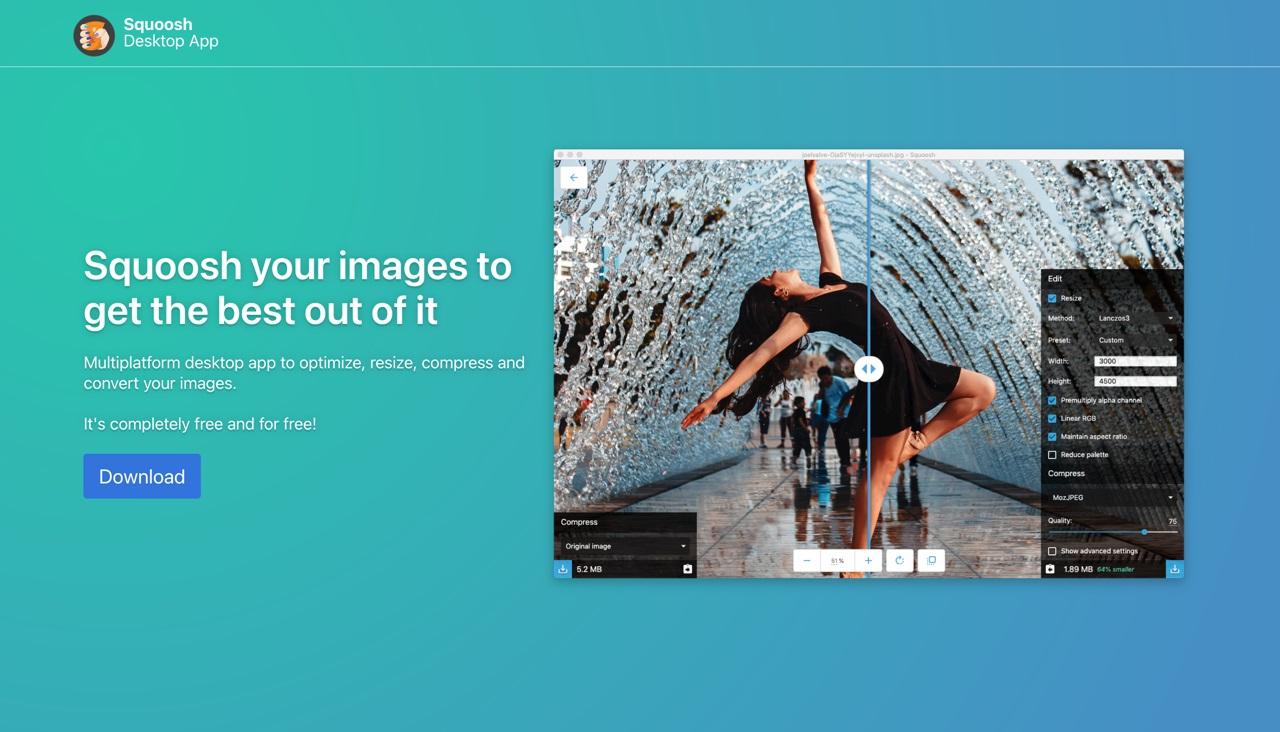 这款桌面版图片压缩工具 Squoosh,没网也能免费用!
