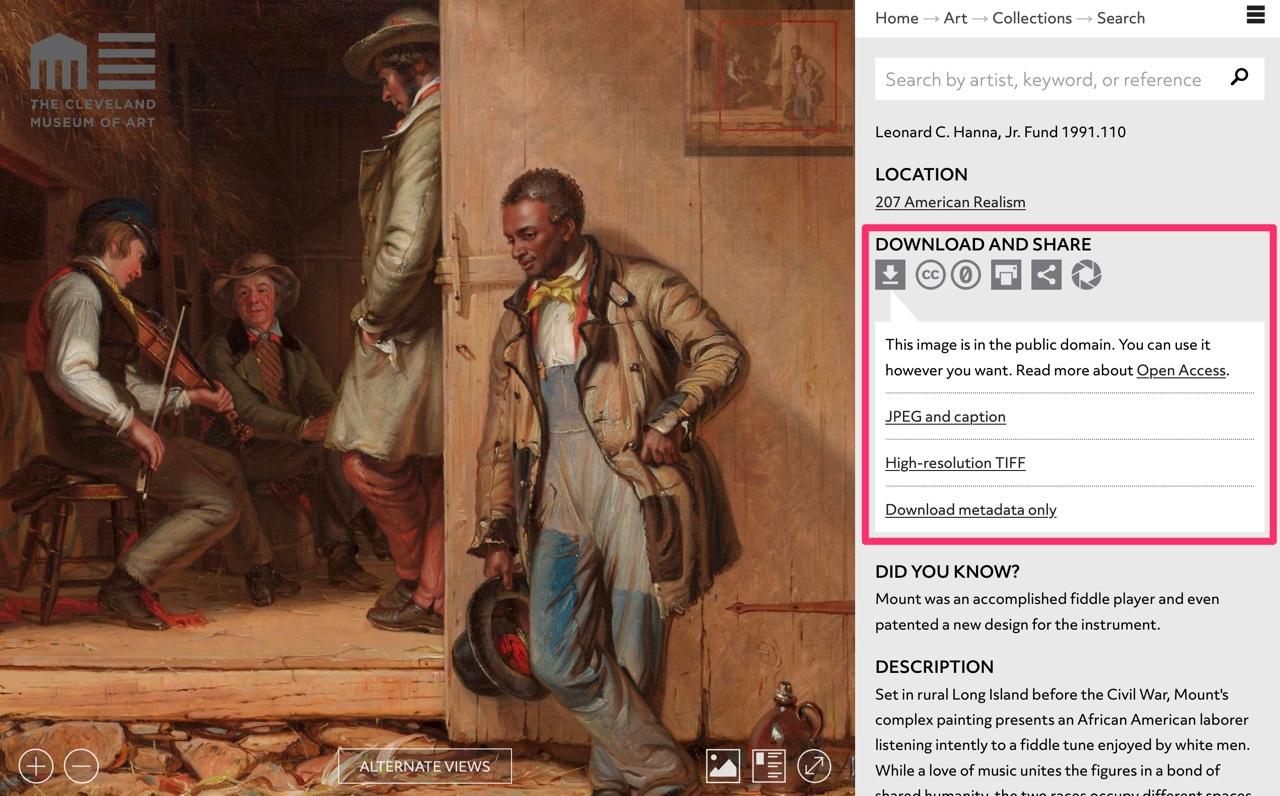 收藏Museo这个网站,各大博物馆和美术馆的免费图片都在这里了!