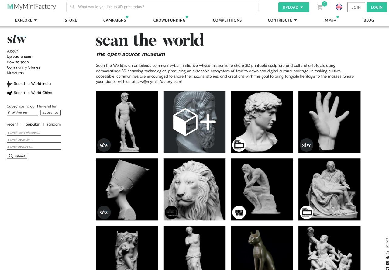 自己动手做!MyMiniFactory 提供超多免费3D打印模型源文件