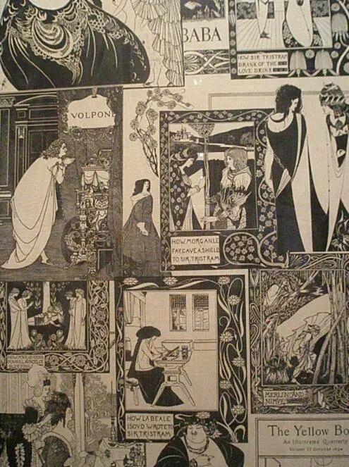与《小王子》作者合作出书:顶尖黄书插画师奥布里·比尔兹利
