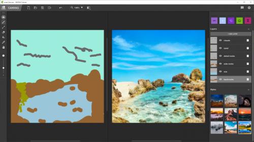 涂鸦秒变逼真的风景画:AI 绘图黑科技 GauGAN