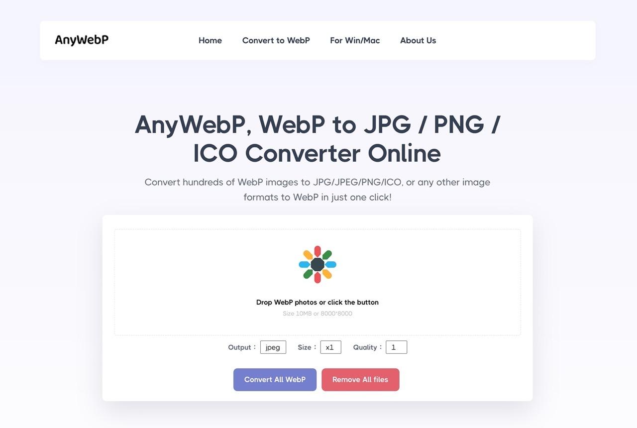 免费转换!批量将 WebP 转成 JPG、PNG 格式的神器「AnyWebP」