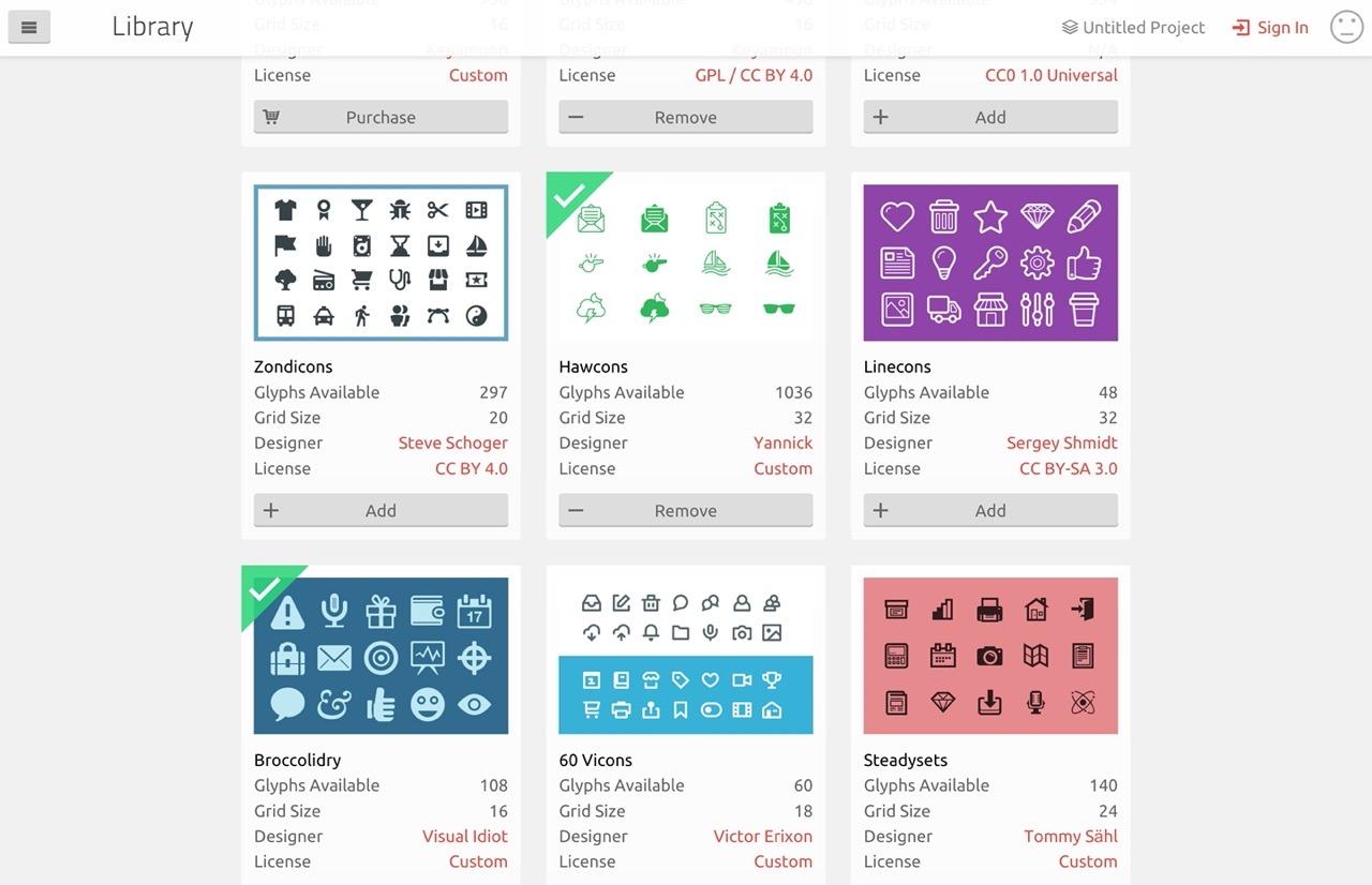 收录 5500 个免费矢量图标的 IcoMoon,快收藏起来!