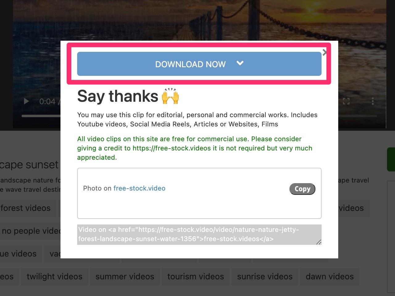 免费 4K 影片素材库!直接下载可商用