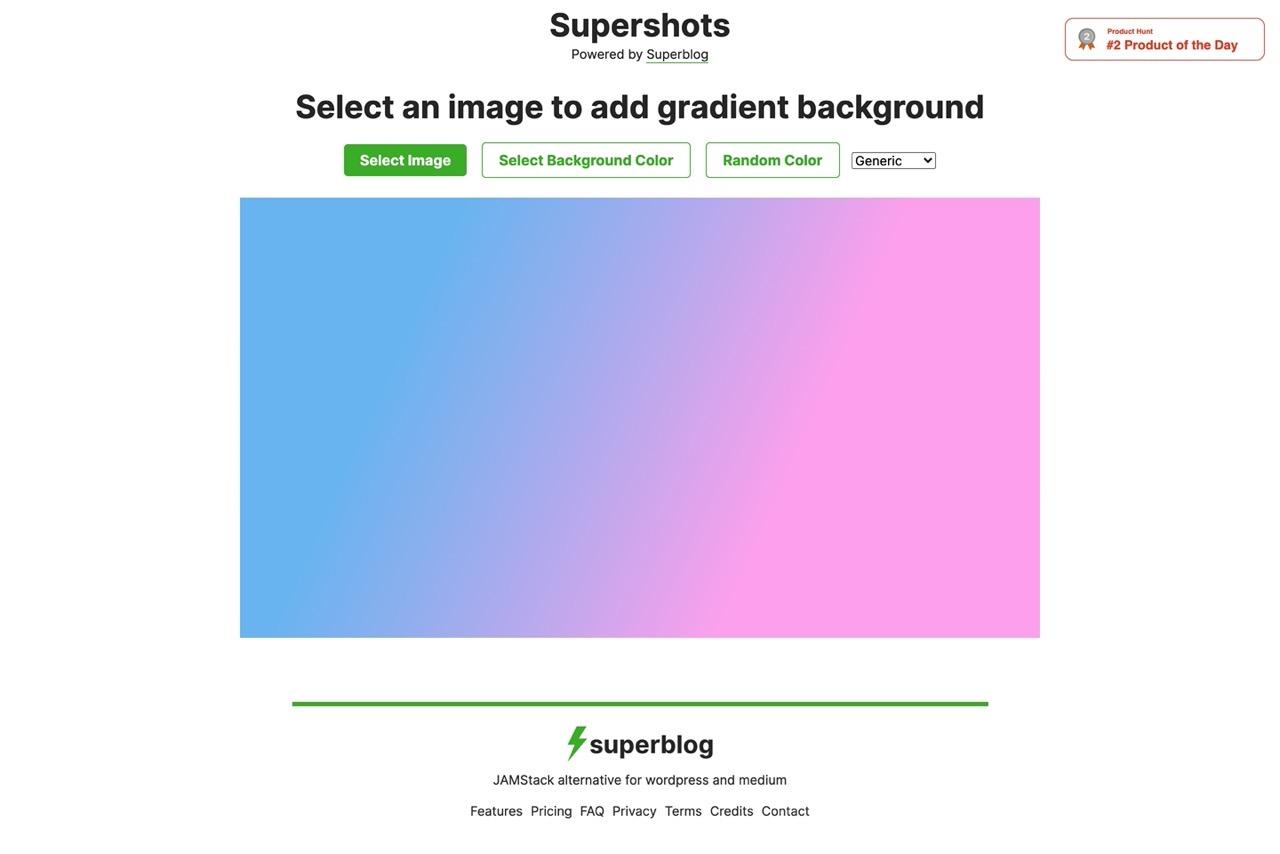 用这个在线免费神器「Supershots」,一秒出超好看的渐变背景!